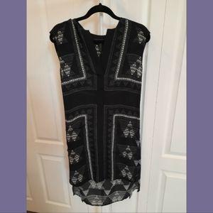 BCBGMAXAZARIA Black Elizabeth Shift Dress